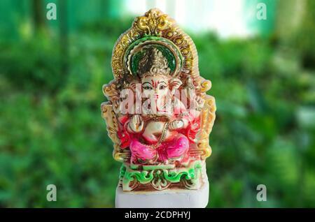 Celebración del Festival de Ganesha Señor Foto de stock