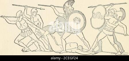 . Hombres de la vieja Grecia, por Jennie Hall. Había sido rey en este país del sur. Después de un largo tiempo dijeron, wewill volver a nuestra vieja casa/ tan grandes hostsof ellos vinieron, algunos por tierra, algunos por mar.este país ya estaba lleno de gente, liv-ing en granjas y en ciudades. Los hijos de sus acles eran hombres poderosos, la de ella, más fuertes y valientes que estas personas. Así que j!pelearon con estos menand ganaron y los hicieron esclavos. HERACLES los valientes hijos de Heracles tomaron Theland y se sentaron en el trono. Estos Helotsquienes cocinan nuestro desayuno y sodo7 nuestra arena moler nuestra harina y atender a nuestro ganado