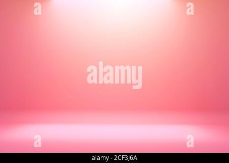 Fondo blanco con gradiente rosa claro y pantalla de producto. Blanco fondo o estudio vacío con piso de la habitación. Textura de fondo abstracto de rosa claro.