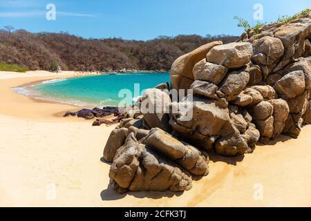 Playa del Organo en Huatulco, estado de Oaxaca, México.