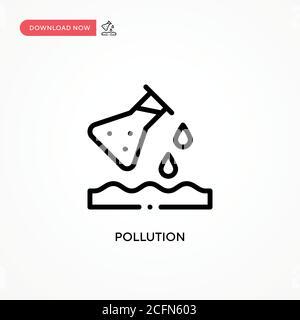 Icono de vector de contaminación. Ilustración moderna y sencilla de vector plano para sitio web o aplicación móvil