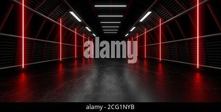 Forma geométrica luminosa de color sobre fondo negro. Reflejo borroso en el suelo. imagen de renderizado en 3d.