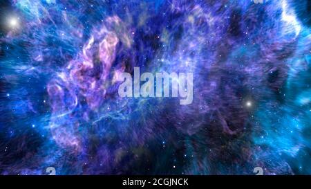 Fondo de galaxias e ilustración de nebulosa