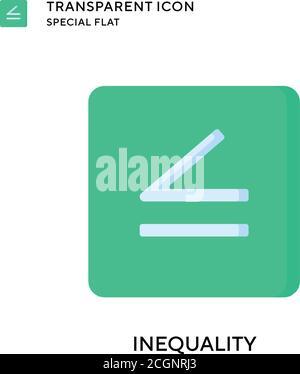 Icono de vector de desigualdad. Ilustración de estilo plano. EPS 10 vector.