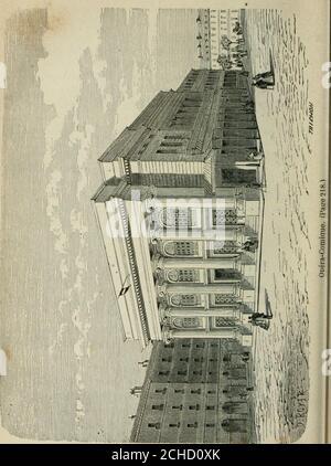 . Les merveilles du nouveau Paris-- . ne-Comédie), vis-à-vis le café Procope. Leur séjour dans ce théâtre, jusquen 1770, fut lépoquela plus brillante de la Comédie-Française. On y vit réunis,au milieu du dix-huitième siècle, Grandval, le Kain, Belle-cour, Préville, Mole, Monval, les Dugazon, les Duménil, lesClairon, les Contât et tant dautotres. La salle étant devenueinsuffisante par laffluence des specteurs français et étran-gers, on en construcuisit une spéciale sur lemplacementactuel de lOdéon, et la Comédie-Française sy installaen 1782, après avoir joué douze colgante ans aux Tui-lleries. La l