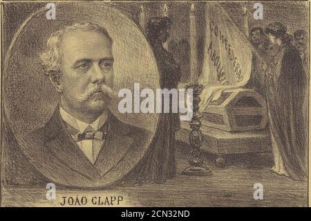 João Clapp, presidente da Confederação abolicionista. Falecido em 11 de Dezembro de 1902, em Petropolis. Foto de stock