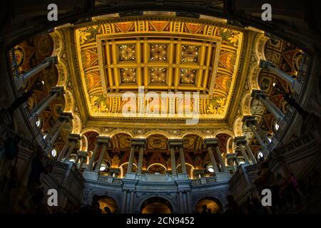 Pintura del techo del Capitolio de los Estados Unidos (Capitolio de los Estados Unidos)