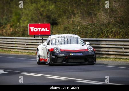 Le Mans, Francia. 19 de septiembre de 2020. Michael Fassender, Porsche 911 GT3 Cup, acción durante la Copa Porsche Carrera 2020 en el circuito des 24 Heures du Mans, del 18 al 19 de septiembre de 2020 en le Mans, Francia - Foto Xavi Bonilla / DPPI crédito: LM/DPPI/Xavi Bonilla/Alamy Live News crédito: Gruppo Editoriale LiveMedia/Alamy Live News