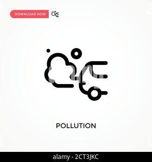 Contaminación simple vector icono. Ilustración moderna y sencilla de vector plano para sitio web o aplicación móvil