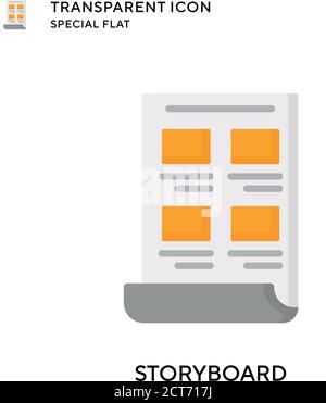 Icono de vector de guión gráfico. Ilustración de estilo plano. EPS 10 vector.