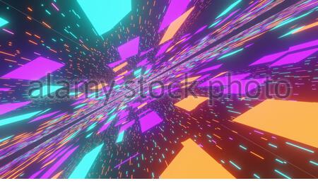 Futurista Tecnología holográfica de ciencia ficción, Abstract motion graphic digital, Internet data network background Foto de stock