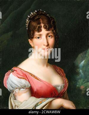 Hortense de Beauharnais (1783-1837), Reina Consort de Holanda, retrato pintado por Anne-Louis Girodet-Trioson, 1805-1809