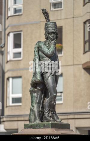 Monumento del general Zieten, Mohrenstrasse, oriente, Berlín, Alemania, Denkmal General von Zieten, Mitte, Deutschland