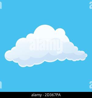 Icono de nube agradable. Dibujo animado de icono de vector de nube agradable para diseño web aislado sobre fondo blanco