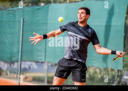 parma, Italia, 09 Oct 2020, Federico Delbonis durante ATP Challenger 125 - Internazionali Emilia Romagna, Tenis Internationals - crédito: LM/Roberta Corradin/Alamy Live News