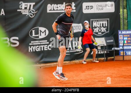 Ederico Delbonis durante ATP Challenger 125 - Internazionali Emilia Romagna, Tennis Internationals, parma, Italia, 09 Oct 2020 crédito: LM/Roberta Corrad