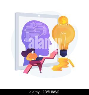 Inteligencia artificial en el financiamiento del concepto abstracto ilustración vectorial. Foto de stock