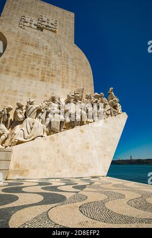 Monumento de los descubrimientos (Padrão dos Descobrimentos) en Lisboa, Portugal, Europa.
