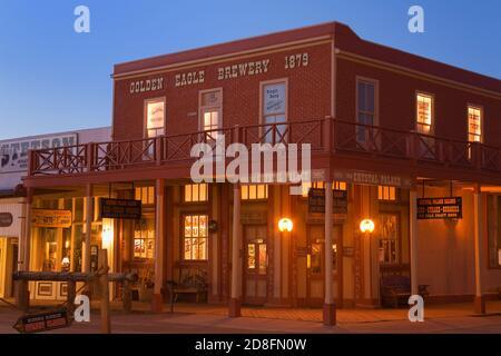 El Crystal Palace Saloon, Tombstone, Condado de Cochise, Arizona, EE.UU.