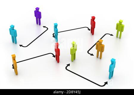 Red de personas de negocios
