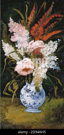 Vincent van Gogh - Still Life Vase con gladioli y.. lilacs