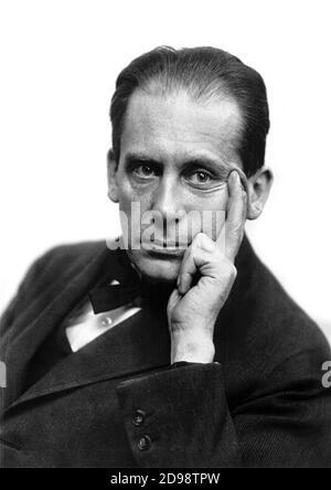 Walter Gropius. Retrato del arquitecto alemán Walter Adolph Georg Gropius (1883-1969) de Louis HOLDEL, c.1919