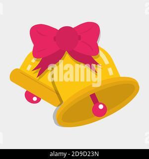 campanas de boda vector ilustración en estilo plano