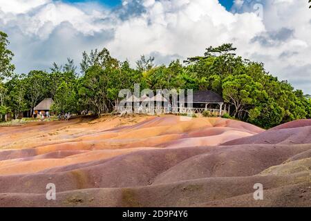 Siete Tierra coloreada, Terres des Sept Couleurs, Chamarel, siete tierras coloreadas, Mauricio, África, Océano Índico