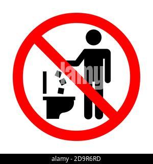 No ensucies en wc icono. mantener limpio firmar. no tirar ...