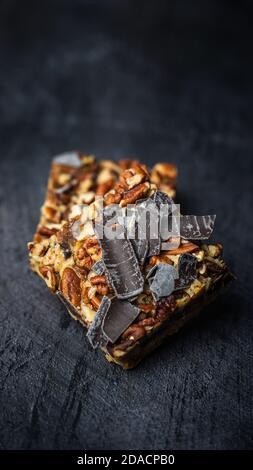 Bar Pecan con rizo de chocolate