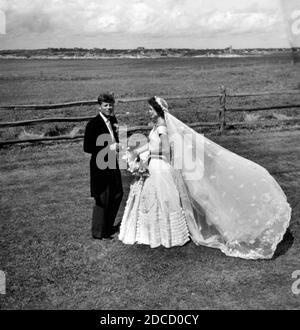 Recién casados JFK y Jackie, 1953