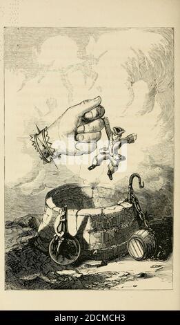 Los viajes y aventuras sorprendentes del Barón Munchausen; con ilustraciones de Alfred Henry Forrester [Alfred Crowquill] Publicado en Nueva York, James Miller en 1860