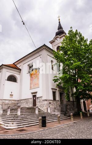 Iglesia de San Florijan, Liubliana, Eslovenia, Europa Foto de stock
