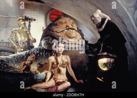 NO HAY PELÍCULA, NO HAY VÍDEO, NO hay televisión, NO HAY DOCUMENTAL - Princesa Leia Organa (Carrie Fisher) como una niña esclava en 'Return of the Jedi' en la película Star Wars. Foto por KRT/ABACAPRESS.COM