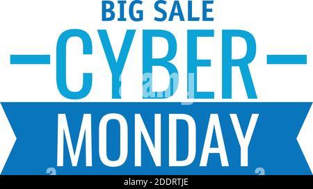 letras cyber monday con cinta de fondo blanco Foto de stock
