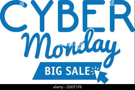 letras cyber monday en fondo blanco Foto de stock