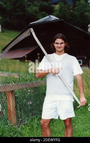 El tenista suizo Roger Federer, 2000