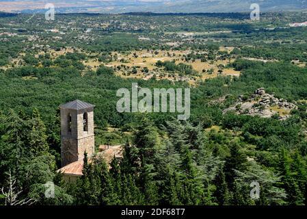 Vista del convento de San Antonio, la Cabrera, Madrid, España