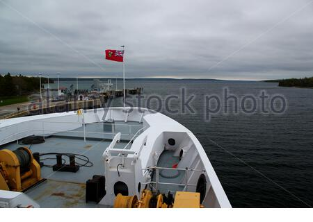Viaje en ferry a la isla Manitoulin Foto de stock