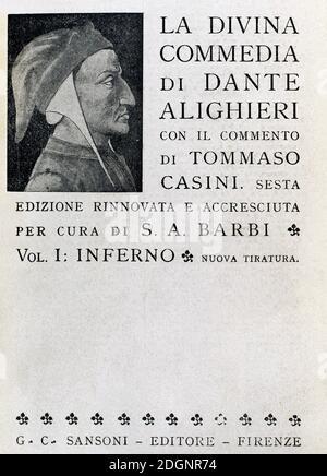 Dante Alighieri (1265-1321). Poeta italiano. La Divina Comedia (1307-1321). Sagrado Poem, escrito en Toscana. I: Inferno.