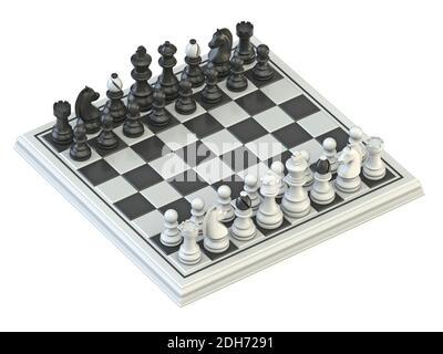 Posición de inicio de tablero de ajedrez 3D
