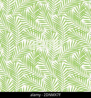 Patrón sin costuras con hojas de palmera. Fondo de papel pintado tropical.