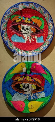 Artesanía de cerámica mexicana en venta en el casco antiguo de Albuquerque, Nuevo México @ Kyra's Imports Foto de stock