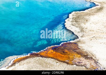 Colorido patrón de la piscina negra, Parque Nacional Yellowstone