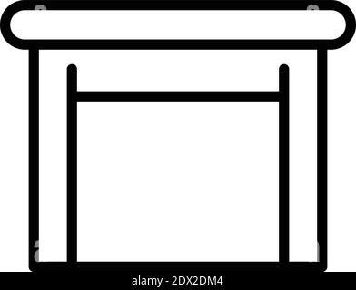 Icono de mesa de madera. Contorno de madera vector icono para diseño web aislado sobre fondo blanco