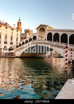 Italia Venecia, ciudad casi vacía de Venecia durante el verano de 2020 con el auge de la pandemia de covid 19 en Italia. Europa Venzia