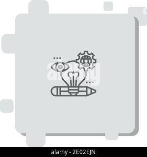 creatividad vector icono moderno vector simple ilustración