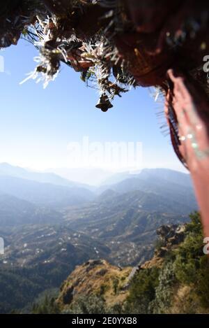 Templo Hindú del Señor Shiva Mukteshwar ubicado en el distrito Nainital del estado de Uttarakhand. Famoso por la Vista del Himalaya y el Señor Shiva