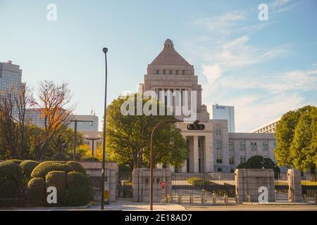 Edificio de la dieta Nacional en Tokio, Japón. Parlamento japonés.