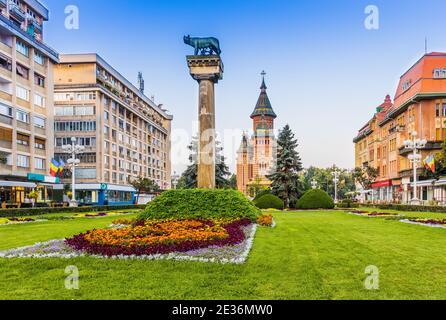 Timisoara, Rumania. El centro histórico de Timisoara, con la Catedral Metropolitana.